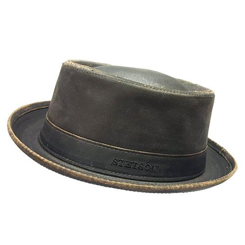 Pork pie Stetson in similpelle