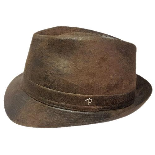 Trilby in similpelle by Panizza